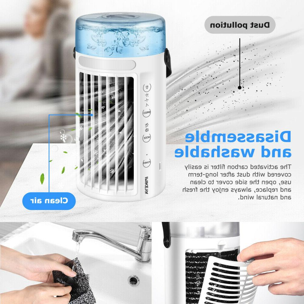 Portable Air Conditioner 8 LED Cooling Fan Humidifier Artic