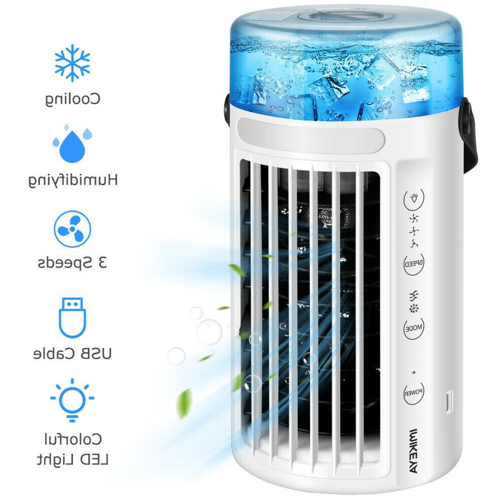 portable air conditioner cooler 8 led light