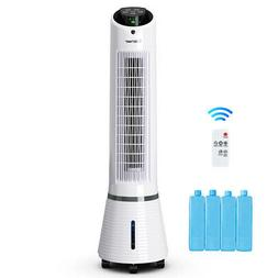 Portable Air Cooler Fan Filter Humidify Tower Fan W/ Remote