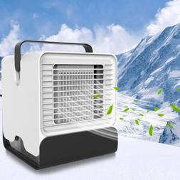 Portable USB Mini Air Conditioner Fan Cooling Humidifier LED