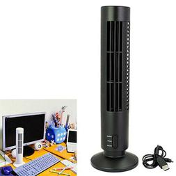 Portable USB Tower Fan Cooling Bladeless 2 Speed Air Conditi